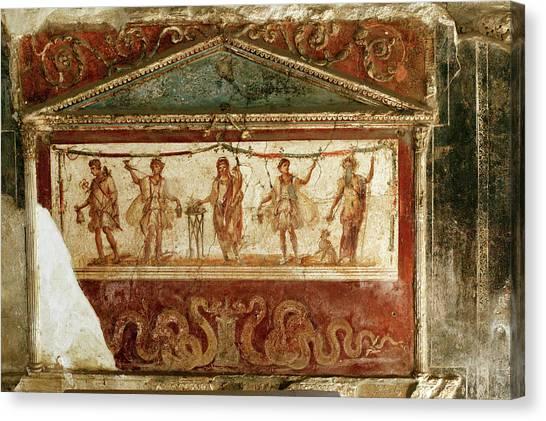Mount Vesuvius Canvas Print - Roman Fresco by Science Photo Library