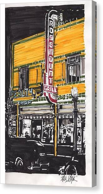 Rosemount Grill Canvas Print by Paul Guyer