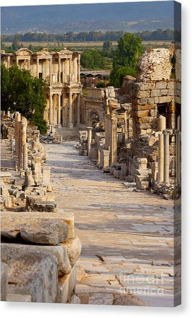 Ruins Of Ephesus Canvas Print