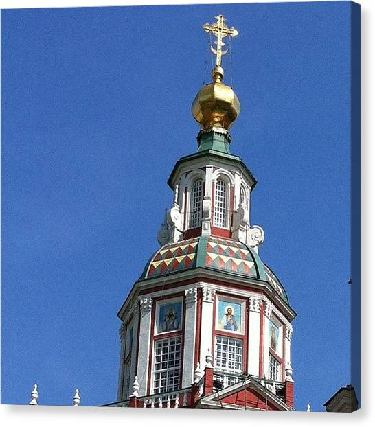 Orthodox Art Canvas Print - #russia #moscow #moscowmoscow by Helen Vitkalova