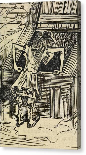 Cellar Canvas Print - Sairey Hann by British Library