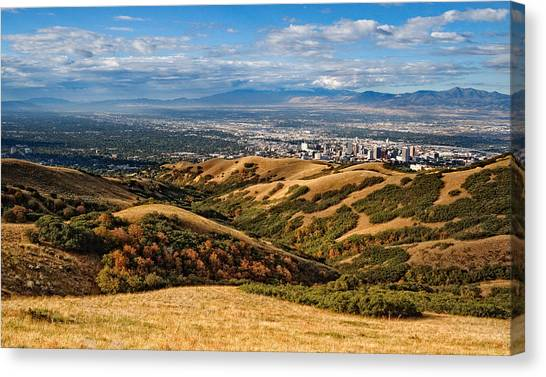 Real Salt Lake Canvas Print - Salt Lake Valley by Douglas Pulsipher