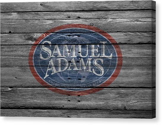 Beer Can Canvas Print - Samuel Adams by Joe Hamilton