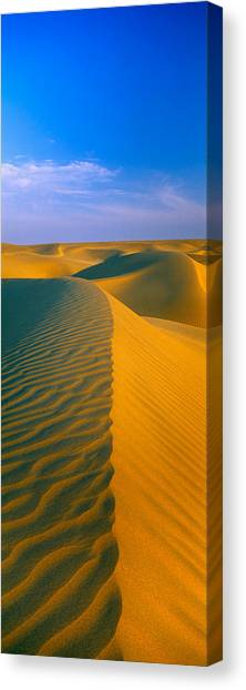 Thar Desert Canvas Print - Sand Dunes The Thar Desert, Rajasthan by Panoramic Images
