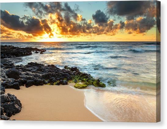 Sandy Beach Sunrise 7 Canvas Print