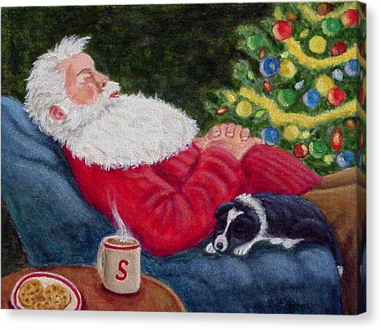 Santa And Breagh Canvas Print
