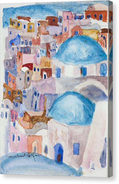 Santorini Splendor Canvas Print