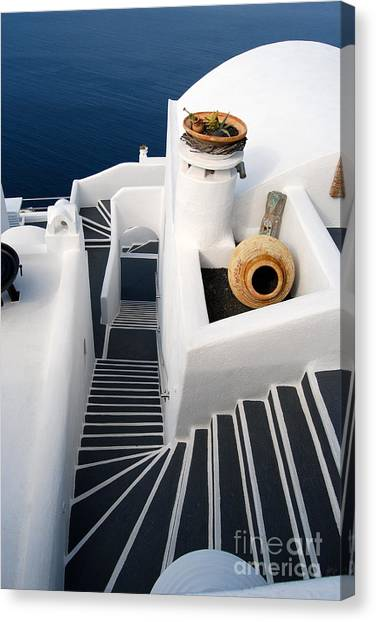 Santorini Steps Canvas Print
