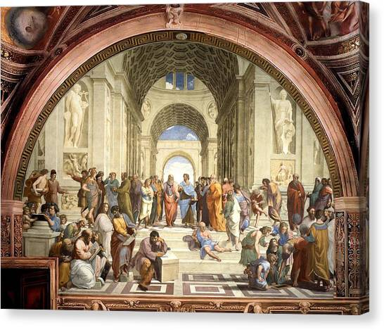 School Of Athens Canvas Print