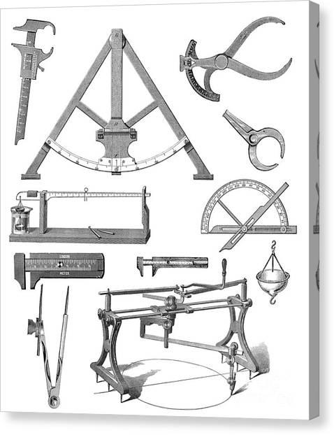 Protractors Canvas Print - Scientific Equipment, Historical Artwork by Mehau Kulyk