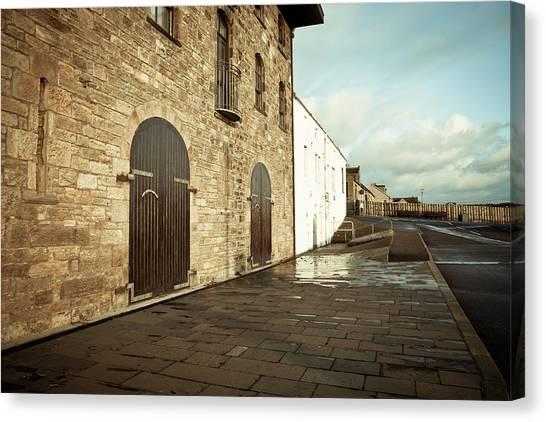Brick Sidewalk Canvas Print - Scottish Building by Tom Gowanlock