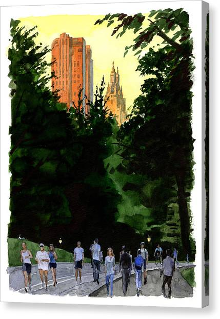September Walk Canvas Print