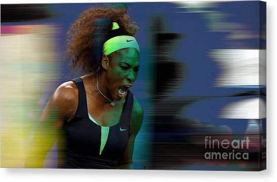 Serena Williams Canvas Print - Serena Williams by Marvin Blaine