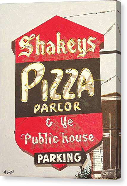 Shakey's Pizza Canvas Print by Paul Guyer