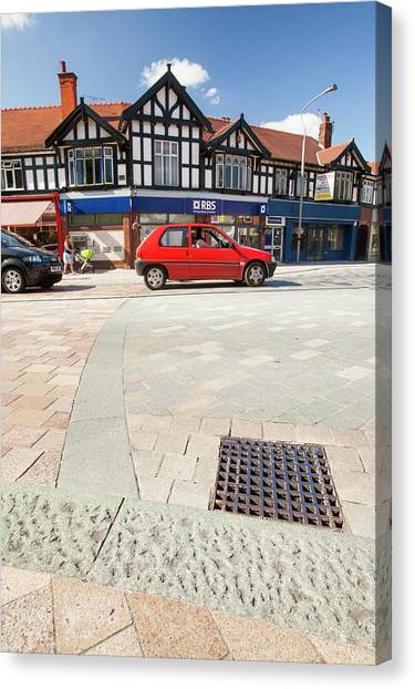 Cheshire Canvas Print - Shared Space In Poynton by Ashley Cooper