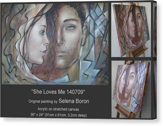 She Loves Me 140709 Canvas Print