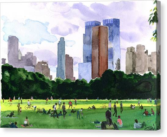 Sheep Meadow Canvas Print