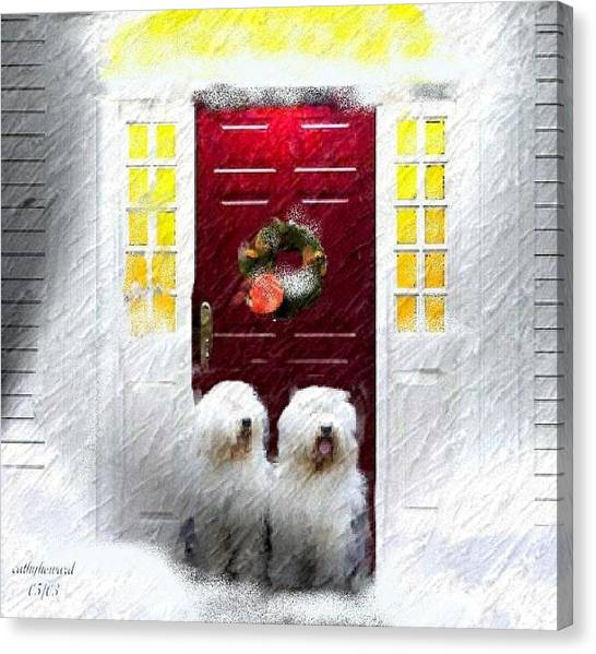 2 Sheepdogs Canvas Print