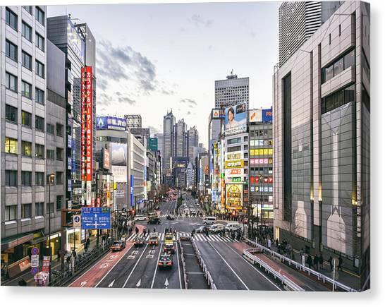 Tokyo Skyline Canvas Print - Shinjuku by Rich Legg
