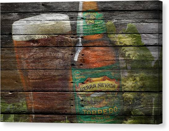 Beer Can Canvas Print - Sierra Nevada by Joe Hamilton