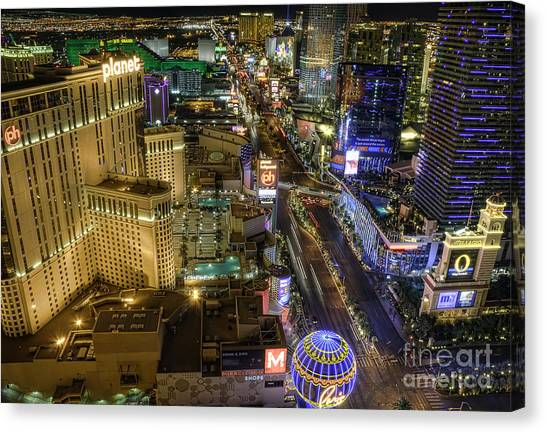 Hollywood Canvas Print - Sin City by Eddie Yerkish