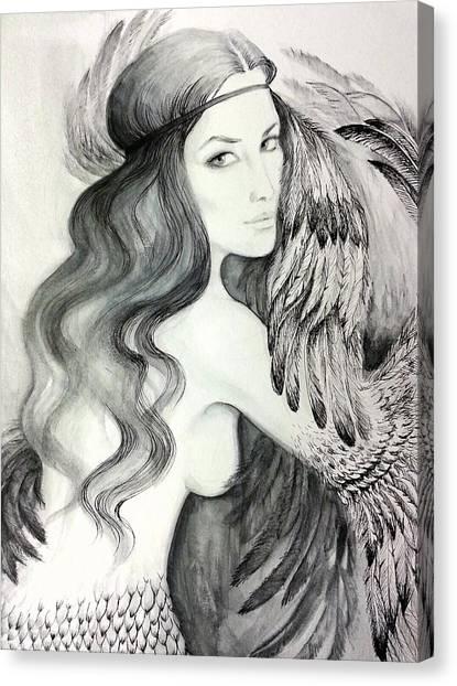 Siren Canvas Print by Roksolana Tchotchieva