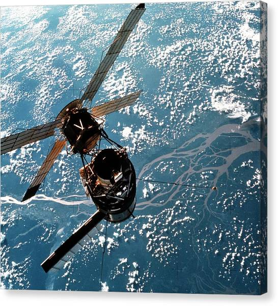 Amazon River Canvas Print - Skylab Space Station Seen From Skylab-3 Module by Nasa/science Photo Library
