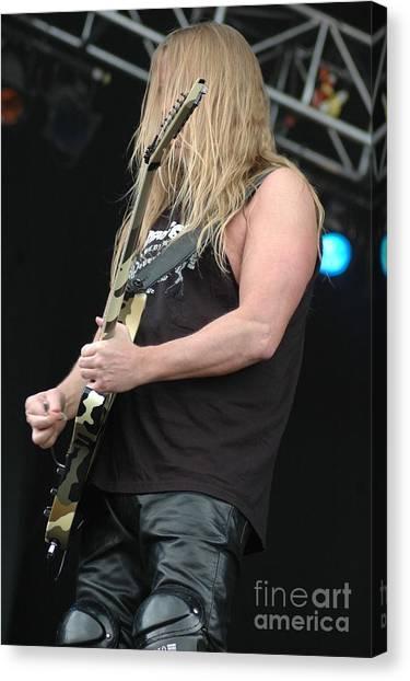 Jeff Hanneman Canvas Print - Slayer-jeff Hanneman by Jenny Potter