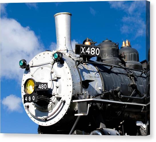 Smiling Locomotive Canvas Print
