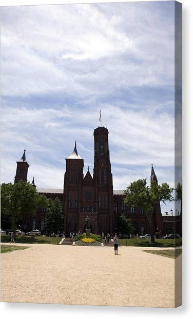 Smithsonian Institute Canvas Print - Smithsonian Institute by Karen Cowled