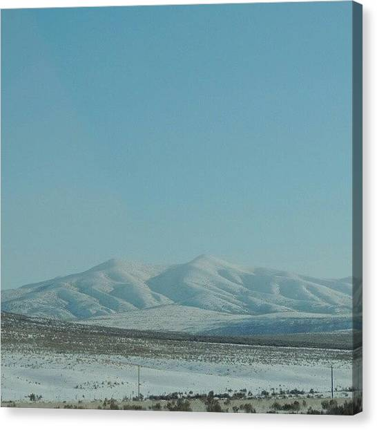 Trucks Canvas Print - Snow Covered Mountain by Kelli Stowe