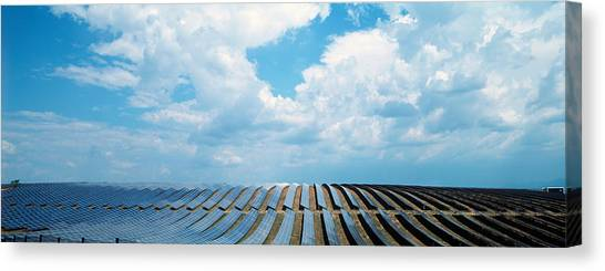 Solar Farms Canvas Print - Solar Panels In A Farm by Panoramic Images