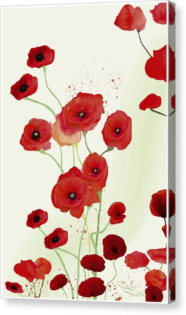 Sonata Of Poppies Canvas Print