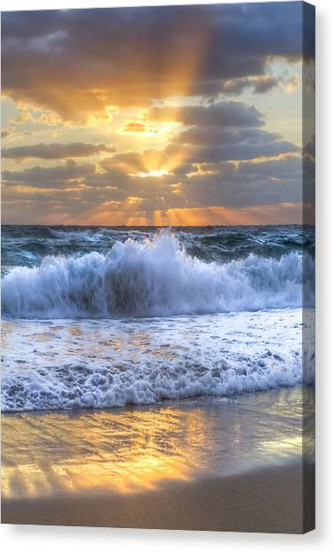 Splash Sunrise Canvas Print