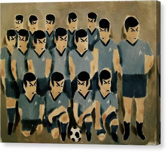 Spock Canvas Print - Spock Soccer Team Art Print by Tommervik