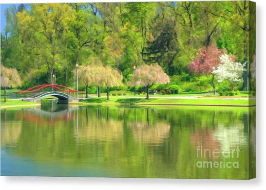 Springtime Reflections Canvas Print