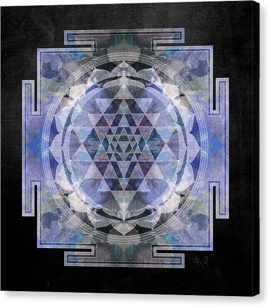 Chakra Canvas Print - Sri Yantra  by Filippo B