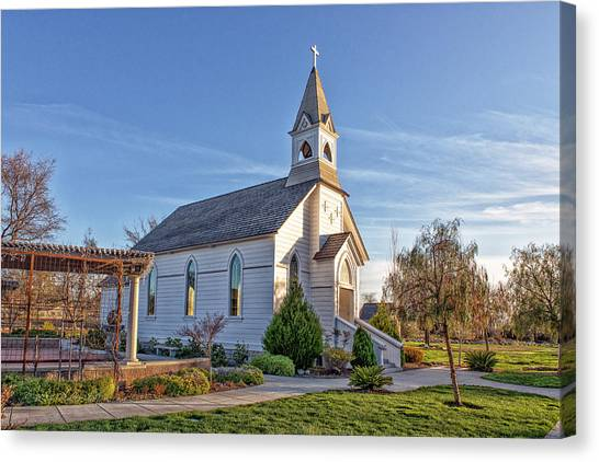 Canvas Print featuring the photograph St. Mary's Chapel by Jim Thompson