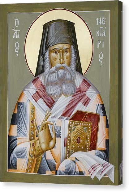 Canvas Print - St Nektarios Of Aegina by Julia Bridget Hayes