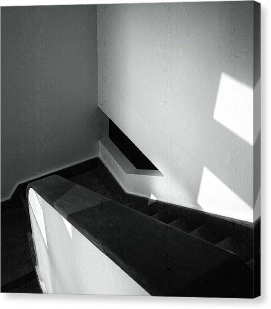 Art Deco Canvas Print - #staircase #steps #wood #handrail by Joe Giampaoli