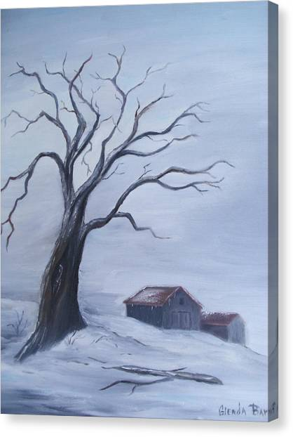Standing Alone Canvas Print by Glenda Barrett