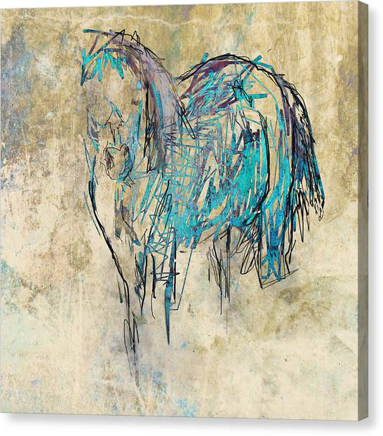 Standing Horse Canvas Print