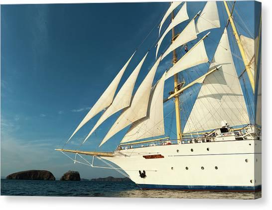 Cruise Ships Canvas Print - Star Flyer Sailing Cruise Ship, Costa by Sergio Pitamitz