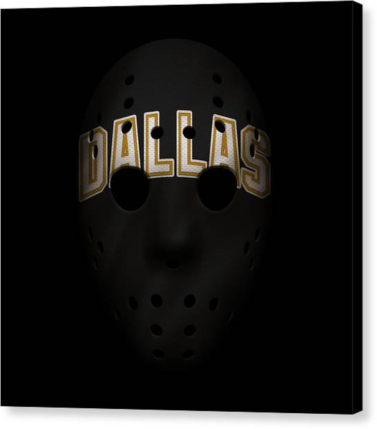 Dallas Stars Canvas Print - Stars Jersey Mask by Joe Hamilton