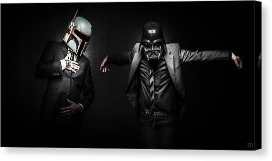 Boba Fett Canvas Print - Starwars Suitup by Marino Flovent