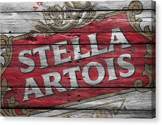 Beer Can Canvas Print - Stella Artois by Joe Hamilton