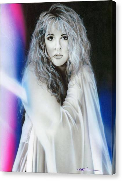 Colleges And Universities Canvas Print - Stevie Nicks by Christian Chapman Art