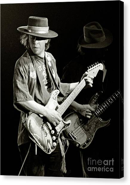 Design Canvas Print - Stevie Ray Vaughan 1984 by Chuck Spang