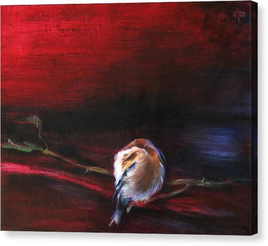Still Life - Original Painting. Part Of A Diptych Canvas Print by Tanya Byrd
