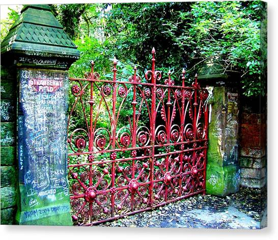 Strawberry Field Gates Canvas Print